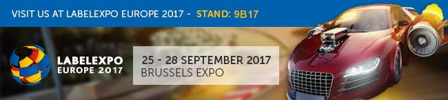 Visit us at Labelexpo Europe 2017 - Stand 9B17
