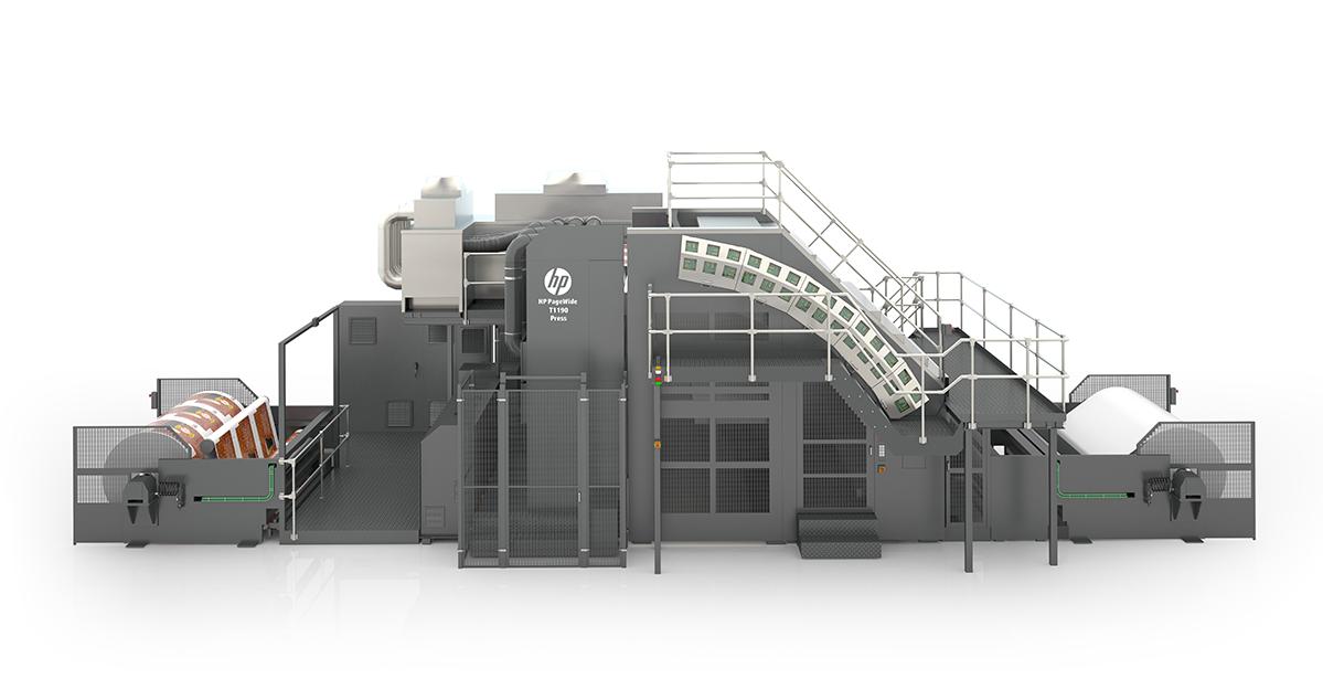 The HP T1190 digital inkjet press